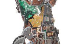 Sculptures cyborg / Utilisation des technologies pour sculpter l'humain