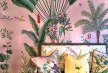 Tropical plants wallpaper