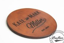 Personalized Coasters / This bord is all about wonderful personalized coasters.