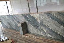 หินอ่อน Palissandro Bluette งานติดตั้งเคาน์เตอร์โรงเเรม / หินอ่อน Palissandro Bluette งานติดตั้งเคาน์เตอร์โรงเเรม www.thaistoneshop.com