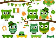 St. Patrick's Day Goodies at Luvly Marketplace / Some of the St. Patrick's Day themed pretty printables, cliparts and vectors at Luvly Marketplace.