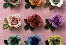 Horgolt virágok