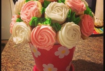 flower bouquet cupcakes / flower bouquet decoration