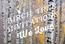 Birch Tree Wedding Invitations / Birch Tree Wedding Invitations to Celebrate the Seasons. From invites, programs, place cards, to thank you notes, we have everything to complete your perfect wedding suite!