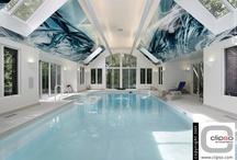 Piscine/Pool / Les plus belles piscines sublimées par des toiles tendues CLIPSO.