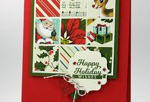 "Stampin' Up! - Home For Christmas / Items gemaakt met het Designer Series Paper ""Home for Christmas"". Uitgegeven in de Autumn/Holiday catalogus 2015"