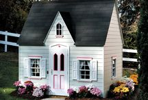 Playhouse Inspiration / A good aunt would break out the sewing machine and thrift around to pull something like this together...... / by Heather Berry