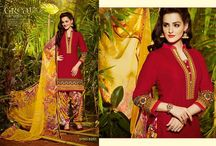 Punjabi Patiala Collection By Smartmegamart - The Fashion Stoppage / Punjabi Designer Patiala Salwar Kameez (unstitched)