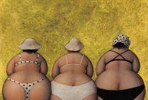 twee dikke vrouwe