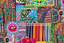 Spannende, kleurrijke gordijnen