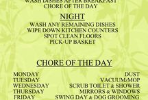 Weekly cleaning suggestions