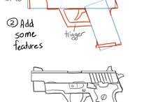 gun and zwordzzz designs, / different gunzz and zwordzz, pew pew pew, swoosh