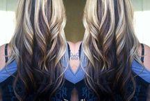 blonds aux mèches noires
