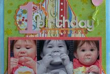 scrapbook pages-birthday