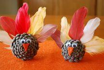 Herbstdeko / Zapfenvögel