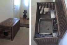 kitty litter box ideas / by Sally Duerfeldt