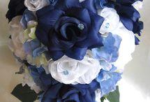 White & Blue wedding theme