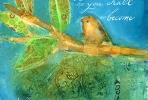 Caitlin Dundon / Art created by Seattle artist Caitlin Dundon in mixed media painting and calligraphy.
