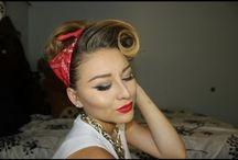 retro make up