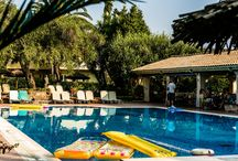Spiti Prifti Pool Area & Bar / Spiti Prifti Apartments in Gouvia, Corfu offer an 18m swimming pool and a pool bar where you can try some local dishes or simply just have a cooling drink!