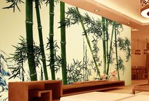 Papier peint Tapisserie asiatique - Les Bambous