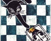 Cat Art Black Cats  / by Charlotte b