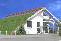 Bogenhäuser / Holzhäuser mit Stahltraggerüst