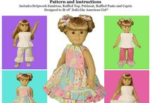 15inch &18 inch doll clothing patterns