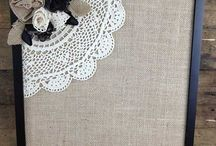 burlap and lace / by Debra Nelson