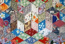 Hand sewn quilts / Just love the texture of hand sewing.