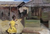 My Africa / These paintings show my interest in Africa, the slow pace and daily lives of the people.