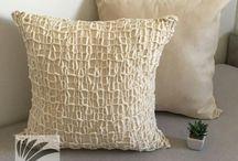 almohadones tejidos a mano / Almohadones decorativos tejidos a mano colores naturales medidas 50x50 cms y 50x35 cms manque deco
