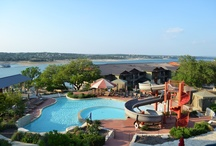 Pool Complex / Lakeway Resort and Spa has three pools. The sunset pool is for adults (21 and older) with views of Lake Travis. The Kids and Activities pools features a waterslide, shallow pools and poolside cabanas.  / by Lakeway Resort and Spa