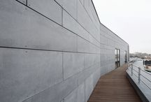 High density fibre cement facades