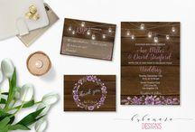 Invitation/Boho wedding
