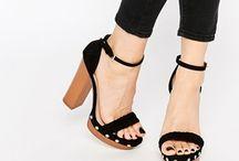 Sandales asos noir a plateforme