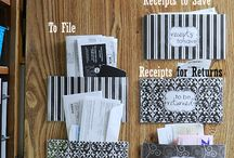organizing receipts