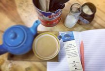 Behind The Scenes / What goes on behind the scenes of our business - lots of lists and lots and lots of tea!