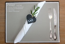 Events place mats/settings