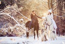 Фотосессия зимняя свадьба