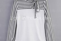 white blouse strips