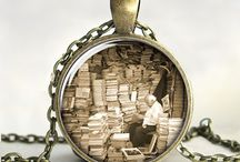 Art, Products and Jewelry Inspired by Books / My characters share my love of books. / by Julee J. Adams