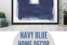 printable blue wall art
