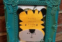 Elly and Woof, buy kids bedroom/nursery wall hangings and framed pictures @ Etsy.