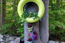 recycled tires/planter ideas