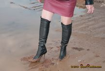 Wet, messy and muddy boots