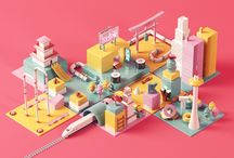 3D Isometric objects