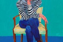 portret  op stoel