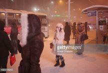 Women in Yakutsk / Yakutsk, Siberia is called the coldest city in the world.