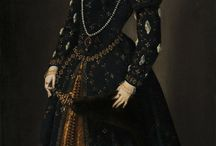 прически 1540-1580